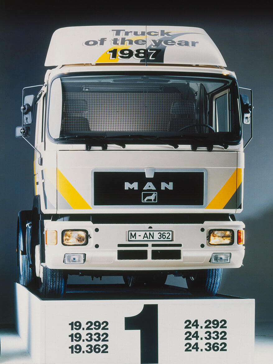 Der MAN F90 – Truck of the Year 1987